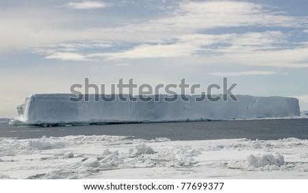 Scenery in Antarctica, the frozen continent, iceberg - stock photo