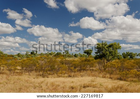 Scenery near Cloncurry, Outback Queensland, Australia - stock photo