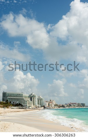 Scenery of Cancun, Mexico - stock photo