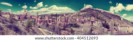 Scenery Spain village.Scenic village landscape.Travel and destinations concept. - stock photo