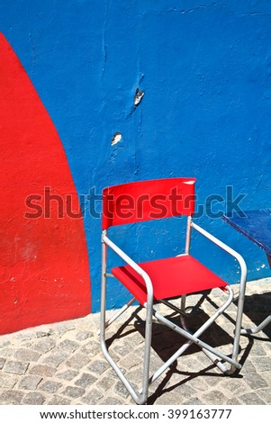 Scenes La Boca  a neighborhood, or barrio of the Argentine capital, Buenos Aires - stock photo