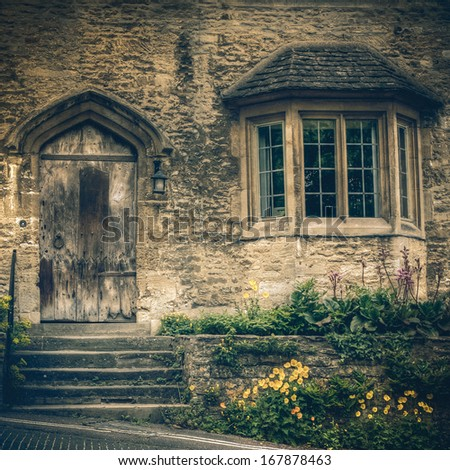 Scenic Cotswolds - Burford, vintage - stock photo
