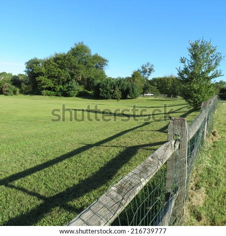 Scenic country meadow.  - stock photo