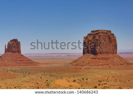 Scenic desert view - stock photo