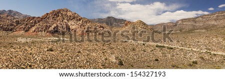 Scenic drive at red rock canyon in Nevada, united states - stock photo