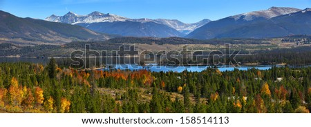 Scenic landscape near Silverthorne ,Colorado - stock photo