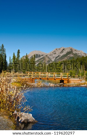 Scenic mountain views, Kananaskis Country Alberta Canada in Autumn - stock photo