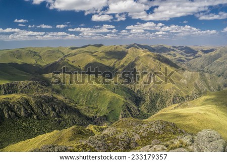 Scenic mountainous landscape in Capilla del Monte in Argentina, South America - stock photo
