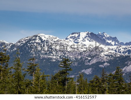Scenic summer mountain hiking landscapes Canada - stock photo