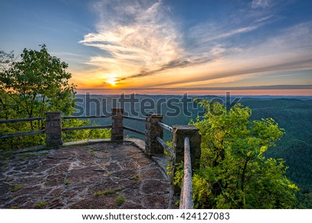 Scenic sunset, Appalachian Mountains, Kentucky - stock photo