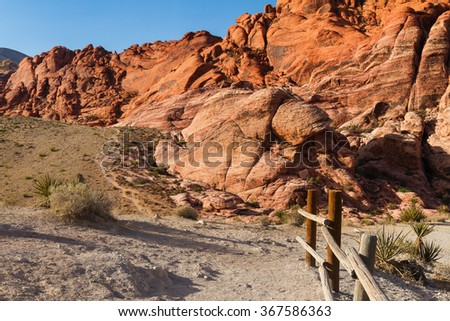 Scenic view at Red Rock Canyon, Nevada, USA - stock photo