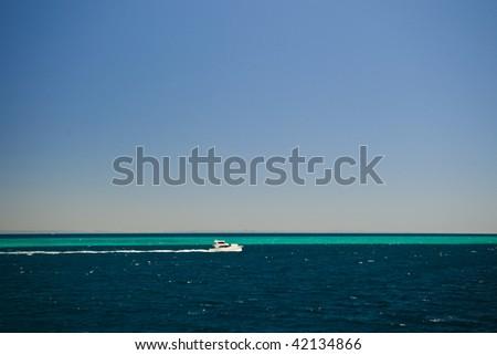 Scenic view of Moreton Bay , Queensland, Australia - stock photo