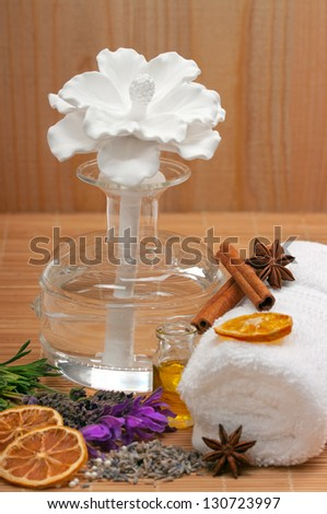 Scented oil diffuser ( reed diffuser) - stock photo
