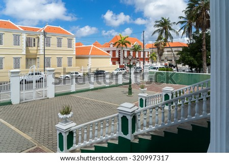 Scharloo - a district of Willemstad Views around Curacao a Caribbean Island in the ABC islands - stock photo