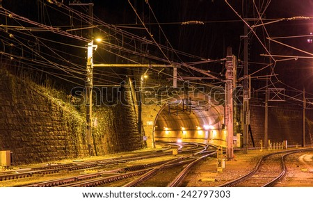 Schattenburg railway tunnel in Feldkirch - Austria - stock photo