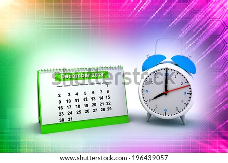 Schedule icon with clock illustration design   - stock photo