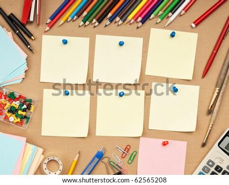 schedule of classes a week in school - stock photo