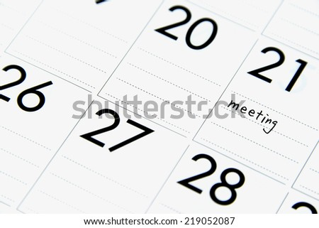 Scheduled business meeting - stock photo