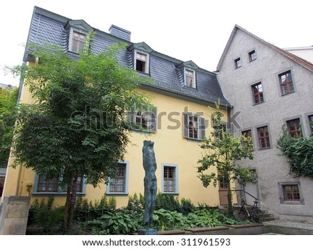Schiller Museum in Weimar, Germany - stock photo