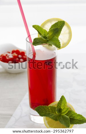 Schizandra chinensis drink. Summer drink.  - stock photo
