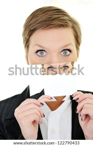 Schizophrenia woman with split personality - stock photo