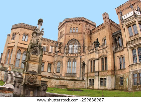 Schloss Babelsberg, landmark medieval castle and unesco world heritage at Potsdam near Berlin, Germany - stock photo