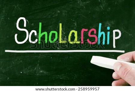 scholarship concept - stock photo
