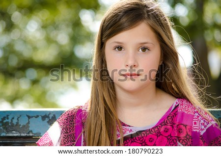 School Aged Girl - stock photo