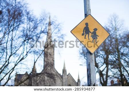 School area sign - stock photo