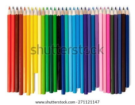 School. Back to school. color pencils - stock photo