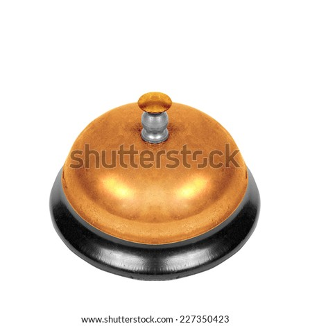 school bell isolated on white background - stock photo