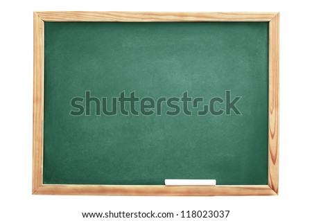 School blackboard isolated on white background - stock photo