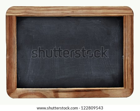 School blackboard on white - stock photo