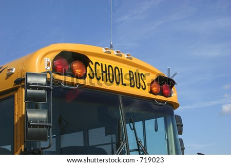 School bus front end - stock photo