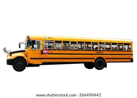 School bus isolated - stock photo