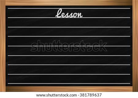 School Chalkboard Backdrop - stock photo