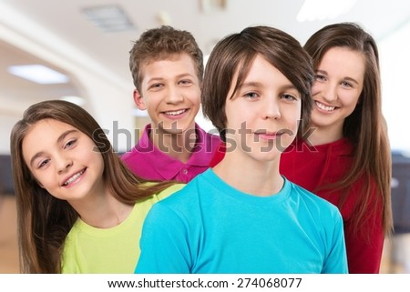 School, children, kids. - stock photo