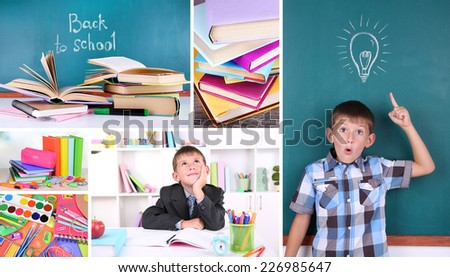 School collage - stock photo