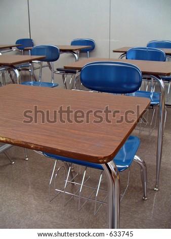 School Desks - stock photo