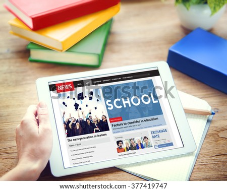 School Education Learning Studying Wisdom Knowledge Concept - stock photo