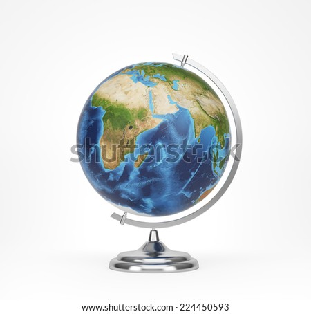 School globe, Africa and Asia view. Elements of this image furnished by NASA  - stock photo