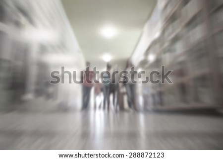 School Hallway-blurred - stock photo