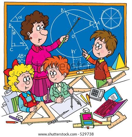 School illustration 058 - stock photo