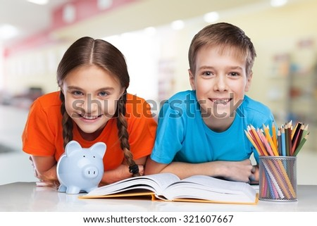 School kids. - stock photo