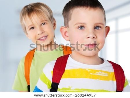 School. Kids ready back to school - stock photo