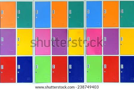 School lockers - stock photo