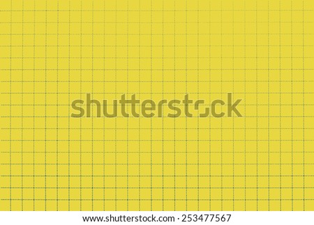 School notebook grid background texture - yellow. Sticky notes style - stock photo