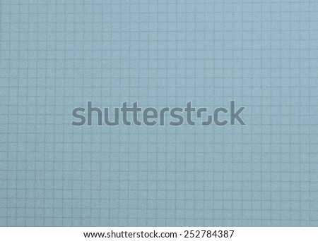School notepad, notebook grid background -  blue color - stock photo