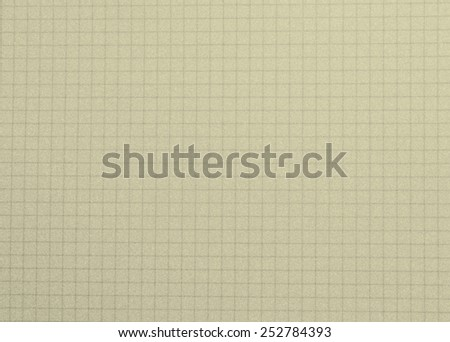 School notepad, notebook grid background - cream color - stock photo