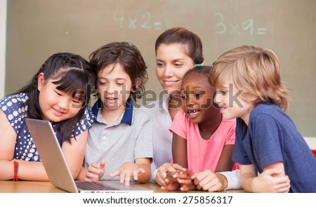 School scene - stock photo